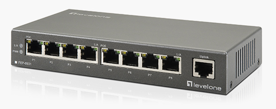 9-Port-PoE-Switch FEP-0931 auf www.level1.com