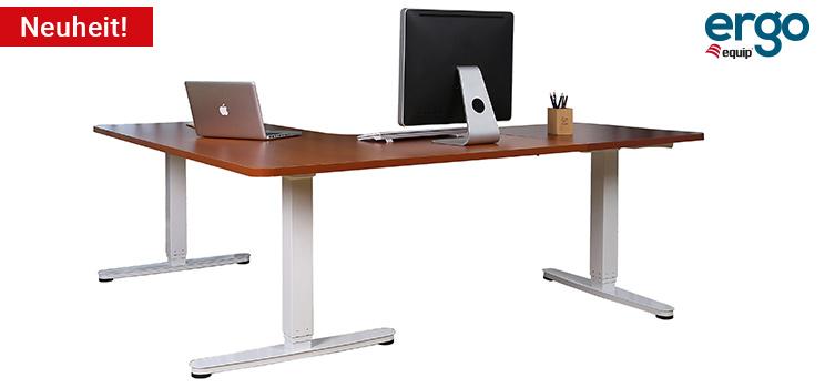 equip ERGO Elektrisch verstellbares Schreibtischgestell in L-Form auf www.equip-info.de