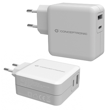 Conceptronic ALTHEA 2-Port-30-W-USB-PD-Ladegerät